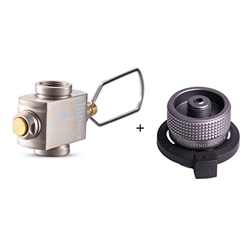 SUNFUA 2 Pcs Gas Adapter Outdoor Hiking Camping Stove Adapter Convertor Stove Connection for Butane Canister to Screw Gas Cartridge