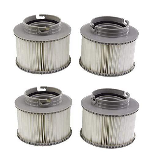 XinXinLan Filterkartusche/Ersatzfilter für MSpa-Whirlpools im 4er-Pack, grau