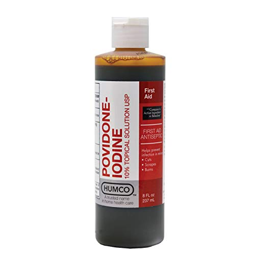 Humco 232516001 Povidone Iodine 10% Topical Solution, 16 oz.