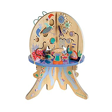 Manhattan Toy Deep Sea Adventure Wooden Toddler Activity Center with Clacking Clams, Spinning Gears, Gliders and Bead…