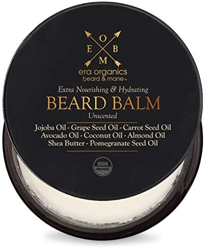 Era Organics Beard Balm Leave In Conditioner Premium USDA Organic Unscented Beard Balm for Beard product image