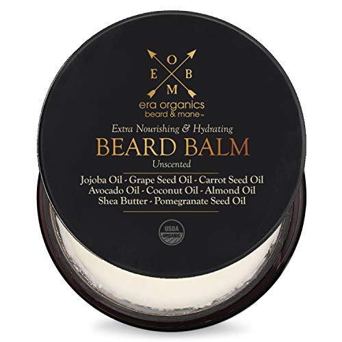 Price comparison product image Organic Beard Balm & Leave in Conditioner Premium USDA Organic Unscented Beard Balm for Beard Growth & Softer,  Smoother,  More Manageable Beard with Argan Oil,  Jojoba Oil,  Avocado Oil & More