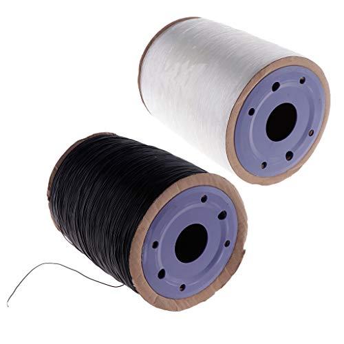 MagiDeal 2X 650 M Hilo de Cordón Elástico Elástico DIY Collar Pulsera Cadena de Cristal 1 Mm