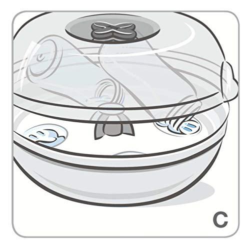 NUK Micro Express Plus Mikrowellen Sterilisator, für bis zu 4 Babyflaschen und Zubehör, schnell, effektiv und gründlich - 3