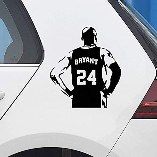 Deportes de baloncesto NBA Legend Star Player Kobe Bryant Back Black Mamba # 24 Etiqueta engomada del coche Etiqueta de la pared Calcomanía de vinilo Boy Fans Truck Decoración para el hogar Mural