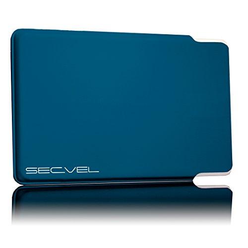 TÜV geprüfte und patentierte Schutzhülle 5-Fach Kartenschutz - Lagoon | RFID NFC Blocker | Magnetfeld Abschirmung | Störsender für Kreditkarte, EC Karte, Personalausweis | 100% Aktiv Schutz