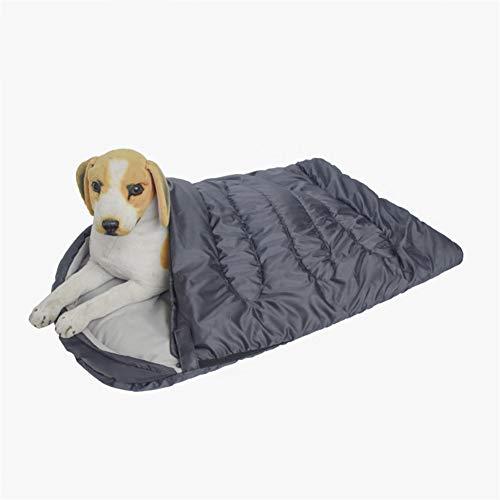 HIMA PETTR Hond Slaapzak Huisdier Bed, Waterdicht En Draagbaar Warm Kennel Pad Krimpbaar met Opbergtas 45 * 29Inch, Grijs