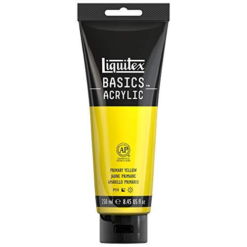 Liquitex Basics Tubo de pintura acrílica Studio, Amarillo primario, 250 ml