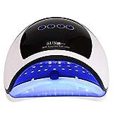 Lámpara de uñas LED UV con 39 luces y sensor automático y 4 temporizadores y fuente de luz doble [UE], secador de uñas de 96 W auxiliares para secador de uñas