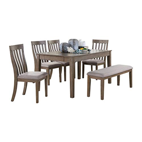 Homelegance 6-Piece Dining Set, Brown
