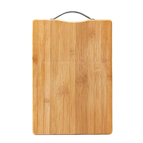 KLF 天然竹製まな板 抗菌 調理用まな板 フック付 カッティングボード 軽量な環境に優しい (28*38)