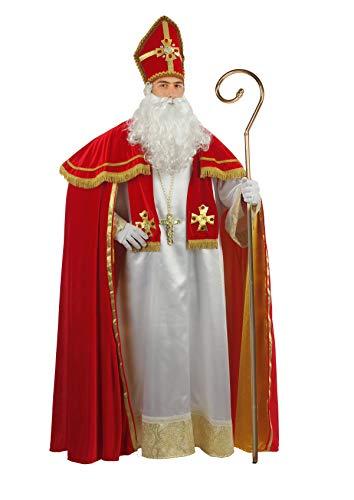 chiber Disfraces Herren-Kostüm Nikolaus von Myra Roter Mantel