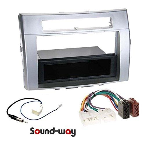 Sound-way 1 DIN / 2 DIN Radiopaneel Frame Autoradio, Antenne Adapter, ISO Aansluitkabel, ondersteuning voor Toyota Corolla, Verso