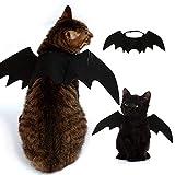 Iris Sprite Costumi di Halloween Pet ali di pipistrello per animali cani gatti decorazioni di Halloween Cappello di zucca Cappello di ragno Cappello di Corno (Ali di pipistrello)