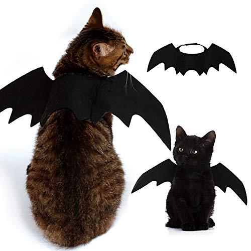 Halloween Hund Katze Haustier Cosplay Kostüm Kleidung Fledermaus Kostüm Horn Kürbis Spinne Kappe (Fledermaus Flügel)