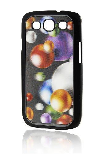 3D Handy Back Case Cover Bunte Kugeln für Samsung Galaxy S3 i9300 BZW. GT-I9305 LTE Handy Schale Cover Schutz Hülle Bumper