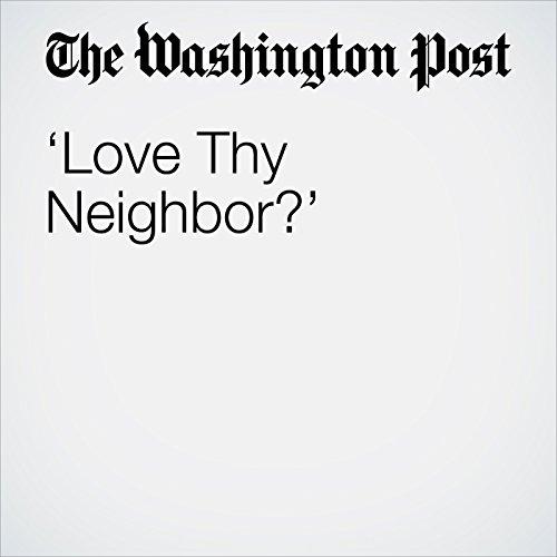 'Love Thy Neighbor?' copertina