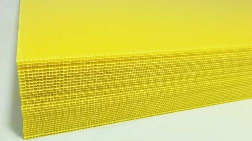 Wellpappe aus Kunststoff Spannbetttuch Gelb Farbe 61x 91,4cm 100