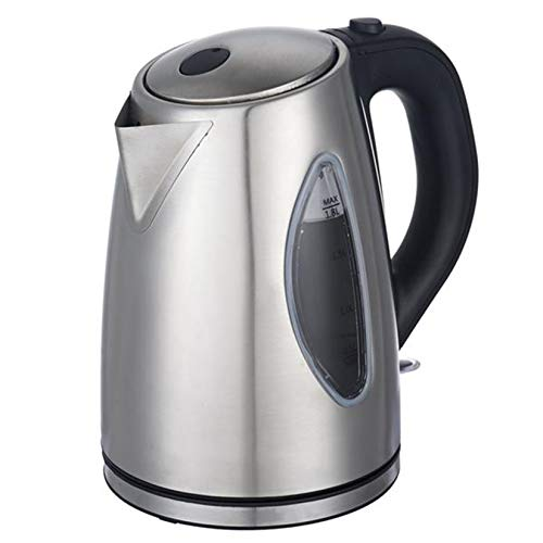 Stainless Steel Electric Teapot, Electric Kettle with Water Window, Electric Hot Water Kettle for Tea And Coffee, 1.8 Liter, 110V 1500W
