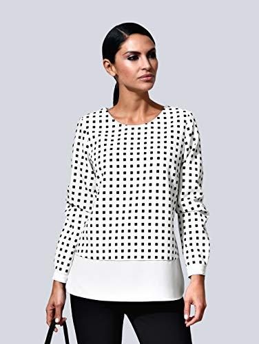 Alba Moda Damen Bluse Weiß 48 Kunstfaser