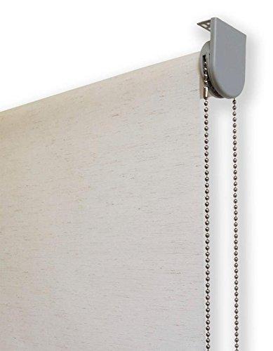Estor Enrollable Lino Premium Metal (Desde 40 hasta 260cm de Ancho) translúcido (Permite Paso de luz/no Permite Ver el Exterior). Color Lino Crudo. Medida 150cm x 160cm para Ventanas y Puertas.