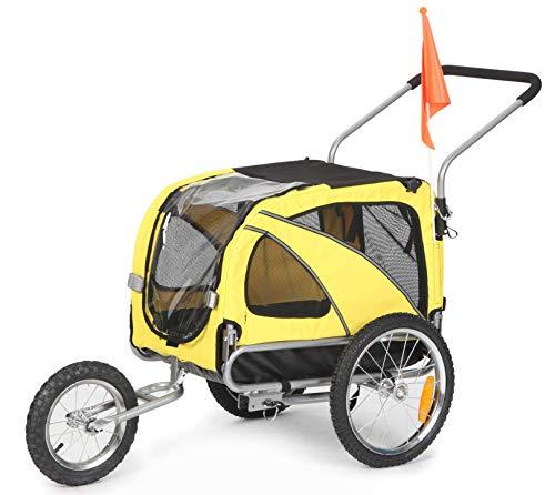 Fiximaster Remolque de bicicleta para mascotas 2 en 1 mediano y jogger de viaje 10201 amarillo
