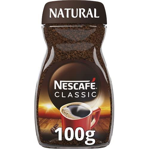 NESCAFÉ CLASSIC NATURAL todo aroma y sabor, café soluble, 100 % café, frasco de vidrio, 100 g