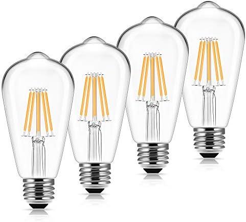 Vintage Led Edison Bulbs 60 Watt Equivalent DORESshop 6W Antique Led Filament Bulb st58 Antique product image