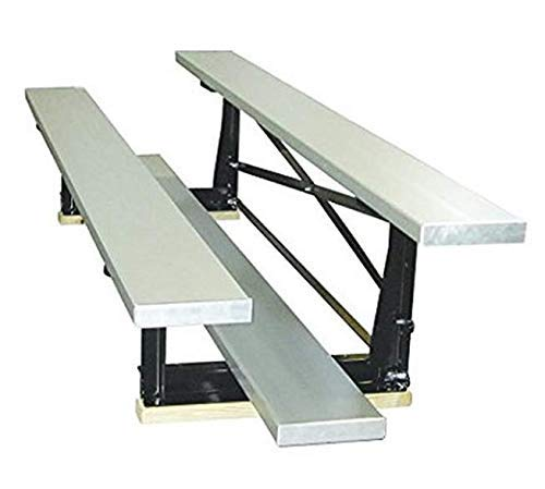 Smart Group 2-reihige Aluminium-Tortenbank für Bleacher, Einzelfußplanke (10/20-Sitzer), 2,25 m