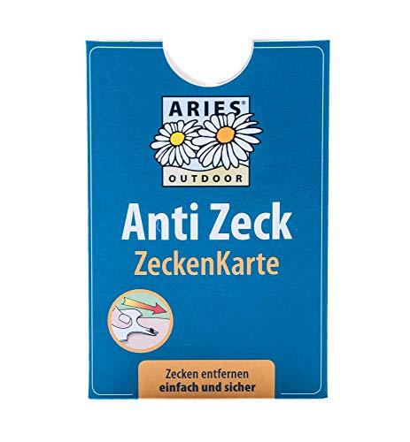 Aries ZK1 Zeckenkarte für Menschen, Hunde und Katzen - praktisches Taschenformat, 6 x 9 cm
