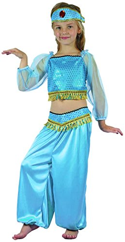 Costume odalisca azzurro bambina 7 a 9 anni