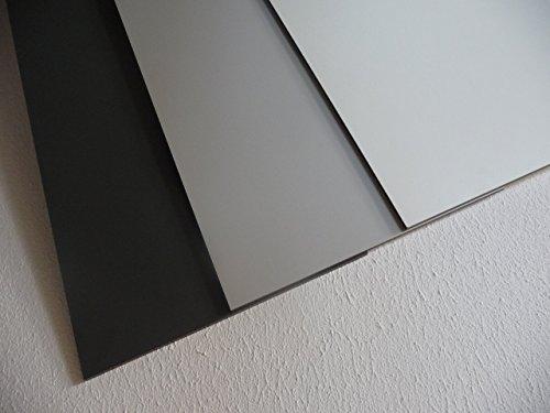 alt-intech Fassadenplatte Balkonplatte HPL Verschiedene Größen und Farben + Zubehör (1000 x 500 x 6 mm, weiß)