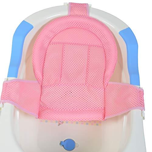 Moni Baby Badewannen Netz Goldy, Badewanneneinsatz, ab Geburt, Kunststoff Clips, Farbe:rosa