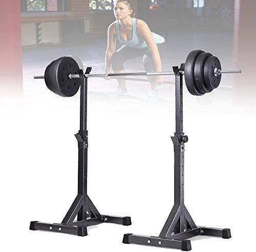 VULID Free-squat Rack, Home Bodybuilding Bänkpress Rack, Bracket Längd Range 97-146CM För Home Gym, Inomhus Utomhus Män