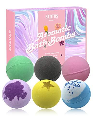 Bombas de Baño Regalo Mujer 6 Piezas 120 g Sales de Baño Naturales Bolas de Baño Efervescentes Regalos Navidad San Valentín Cumpleaños para Madre Niños