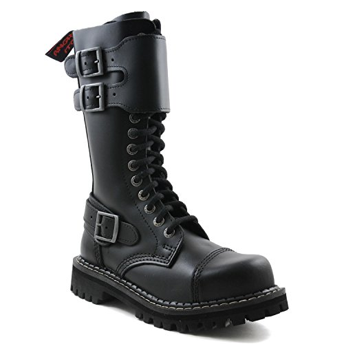 Angry Itch Botas Militares Unisex Hombre Mujer Cuero...