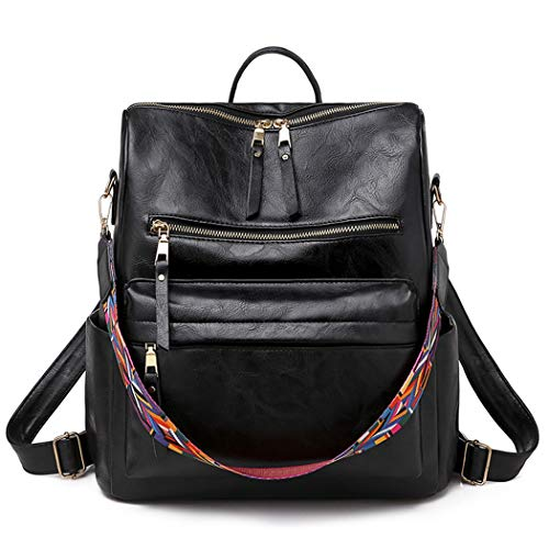 COOFIT Women Backpack Creative Shoulder Bag Travel Backpack with Keychain Pendant
