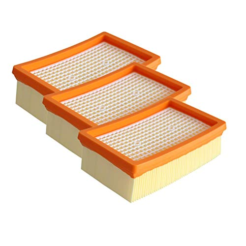 3 Filtros para Aspiradoras Plana Plisada Filtros Compatible para MV4 MV5 MV6 Wd4 WD5 WD6 Aspirador Filtro de Repuesto