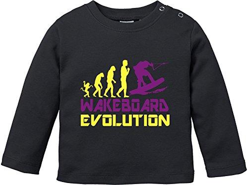 EZYshirt® Wakeboard Evolution Baby T-Shirt Longsleeve