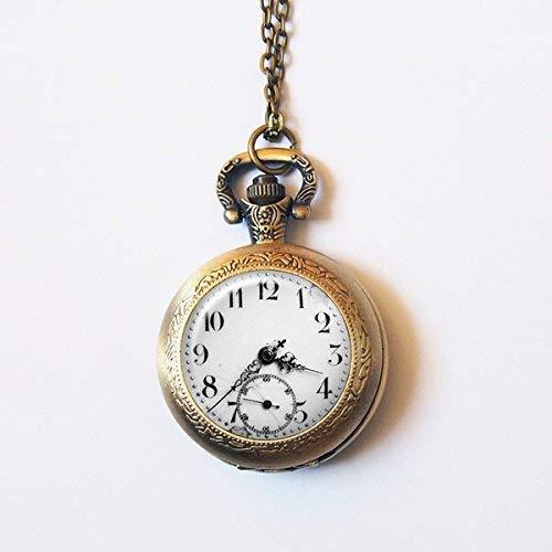 Antike Uhr Taschenuhr, zarte Uhr Halskette, Uhr Anhänger, Vintage Bronze Schmuck, Art Bild Schmuck, Mode Anhänger