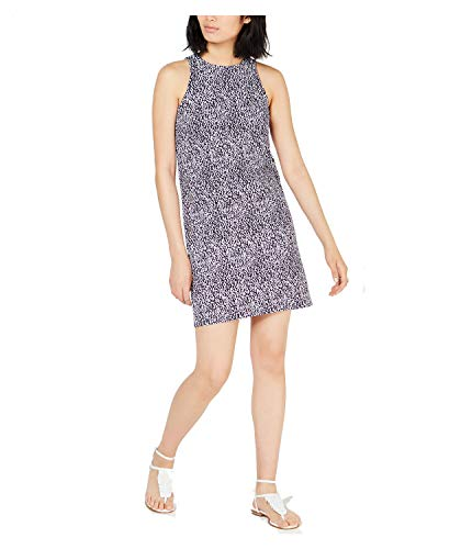 Michael Michael Kors Printed Sleeveless Mini Dress Dark Lavender Small