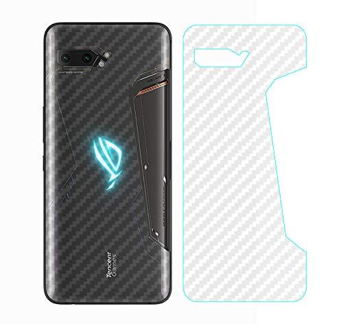 NOKOER Protector Trasero para ASUS ROG Phone 2, [3 Piezas] 0.1mm Suave Ultrafina Back Protector Flim [Antideslizante] [Huella Digital Anti] [Prevención de Arañazos] [Disipacion de Calor]