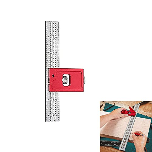 Woodpecker Edge Rule, Double Square Woodworking Tool, Carpentry Tools, Carpenter Square, Adjustable Ruler Tool Carpentry Tools, A Great Gift for Father'S Day (6inch right angle)