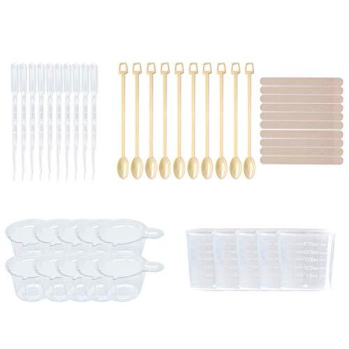 SUPVOX 45 Teile/satz Silikon Messbecher Silikonharz Formen Werkzeuge DIY epoxy werkzeuge für Harz Kunst Schmuckherstellung