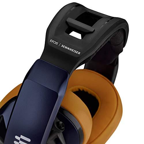Epos I Sennheiser GSP 602 Gaming Headset, Geräuschunterdrückendes Mikrofon, Flip-to-Mute, Ergonomisch, Ohrpolster, Kompatibel mit PC, Mac, PS4, PS5, Xbox Series X & One, Nintendo Switch, Blau/Schwarz