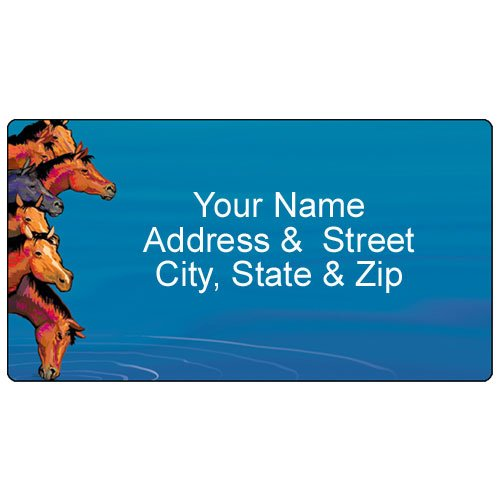Horse Address Label - Customized Return Address Label - 90 Labels