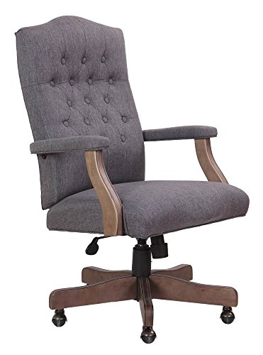 Boss Office Products Executive Commercial Swivel Chair, Slate Grey