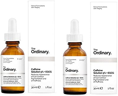 2X The Ordinary' Caffeine Solution 5% + EGCG' 30ml, Reduces Appearance of Eye Contour Pigmentation and of Puffiness by The Ordinary'