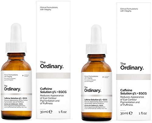 Solución The Ordinary, de cafeína 5% + EGCG 30ml, reduce la aparición de pigmentación en el contorno de los ojos y de la hinchazón (2 unidades)