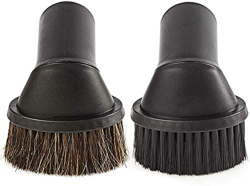 2 Stück Staubpinsel Set Düse Staubsauger-aufsatz Möbelpinsel für die Durchmesser 35mm/36mm für 1*Nass/1*Trockensauger Gelenk drehbar